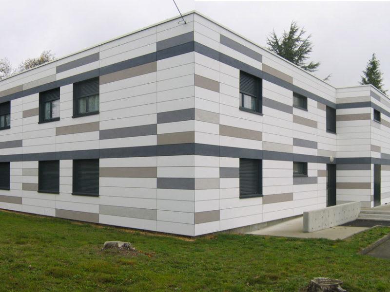 Rénovation façades des Logements de fonction Louis Cordelet - Parigné