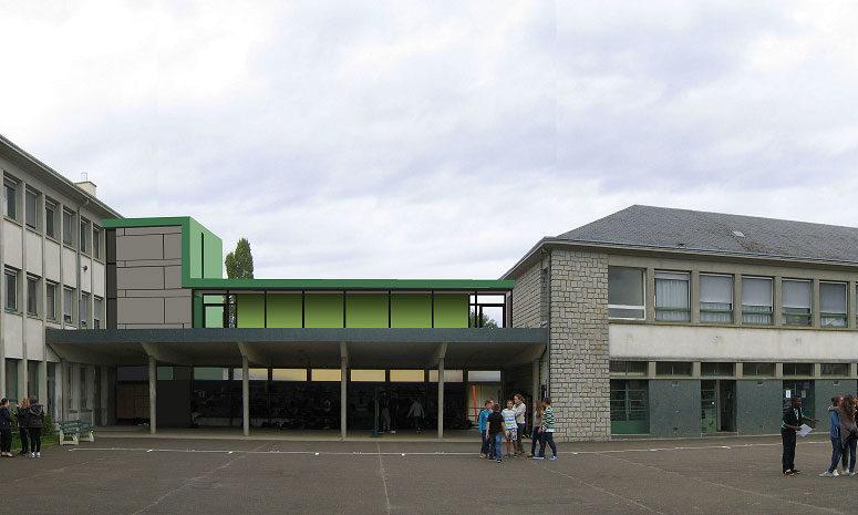 Ascenseurs et accessibilité handicaps Collège le Joncheray - Sarthe